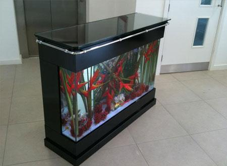 Aquarium Bar Table In Piano Black Finish   Click For Details | Bespoke  Designer Aquariums U0026 Custom Fish Tank Accessories, Aquarium Installation  And ...