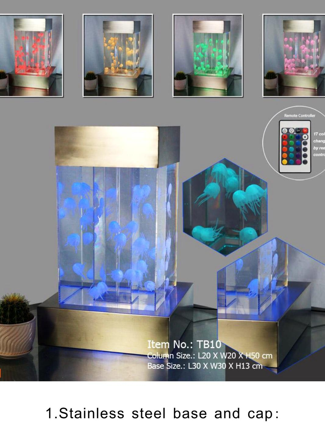 Artificial Jellyfish Desktop Tank With Remote Controlled