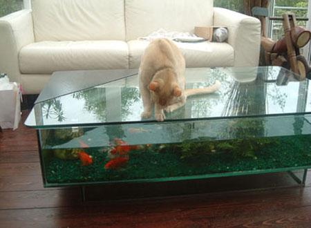 Cs coffee table aquarium click for details bespoke for Table maison de famille